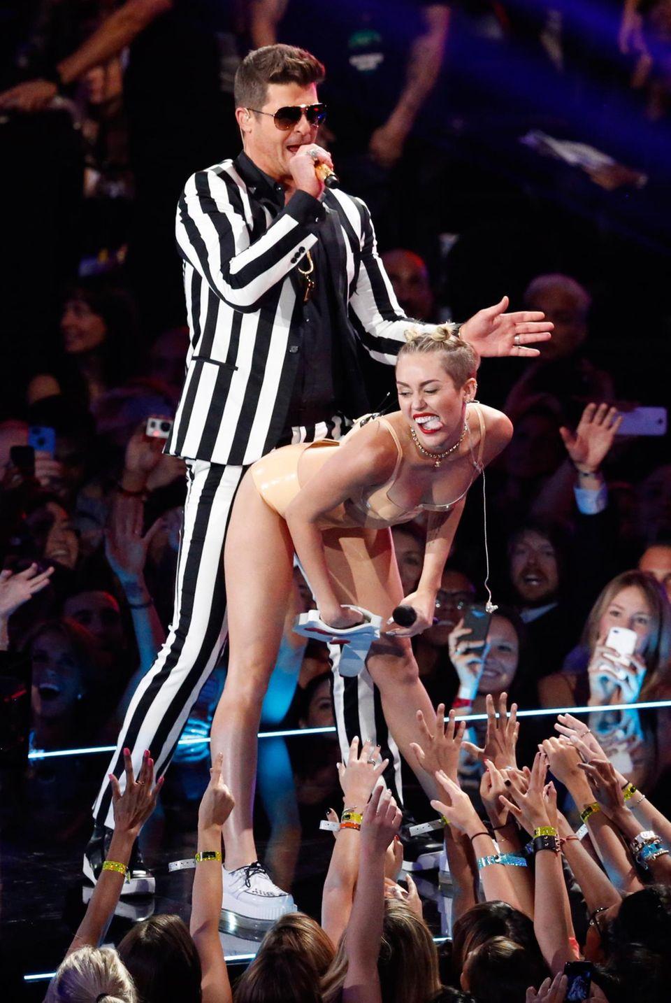 Robin Thicke und Miley Cyrus