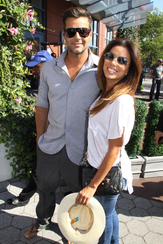 Ricky Martin und Eva Longoria kommen gemeinsam beim Frauen-Finale an.