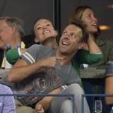 Jason Sudeikis und Olivia Wilde haben bei der Eröffnungsfeier jede Menge Spaß.