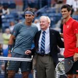 Die australische Tennislegende Rod Laver ist auch nach New York gereist.