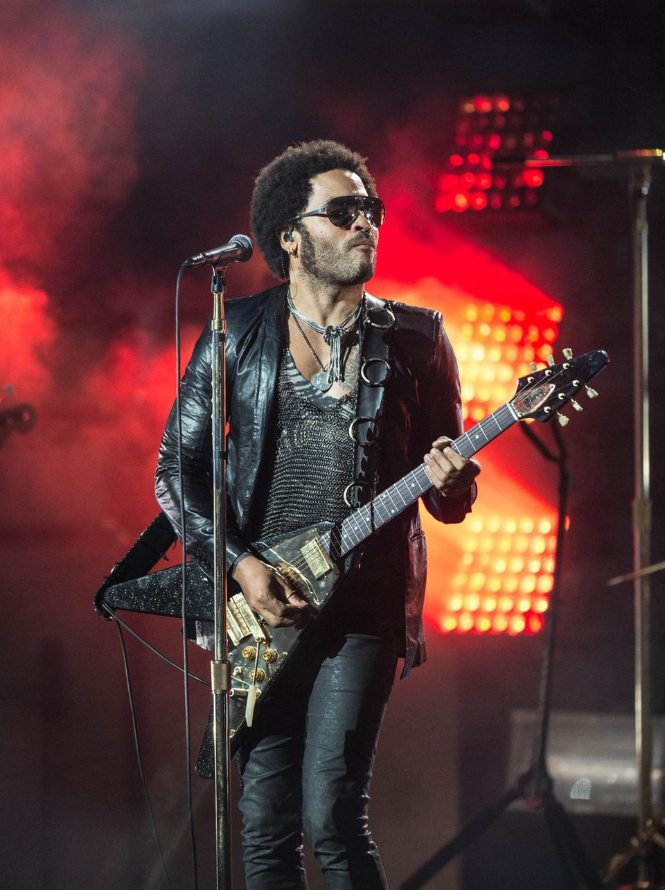 """Lenny Kravitz tritt bei der """"Opening Night"""" im """"USTA Center"""" auf."""