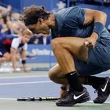 """Rafel Nadal holt die """"big points""""."""