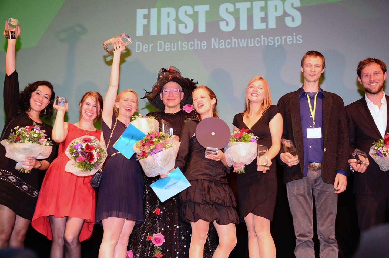 Die glücklichen Gewinner: Talkhon Hamzavi, Gabriela Betschart, Anna Thommen, Rosa von Praunheim, Cosima Maria Degler, Jöns Jönsson und Tobias Haase