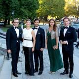 Prinz Daniel, Prinzessin Victoria, Prinz Carl Philip, Prinzessin Madeleine und Chris O'Neill sind auf dem Weg zu dem Jubiläumskonzert.