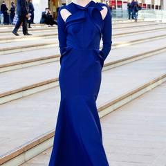 Supermodel Coco Rocha ist in einem Kleid des kanadischen Designer-Duos Greta Constantine zur Oper gekommen.