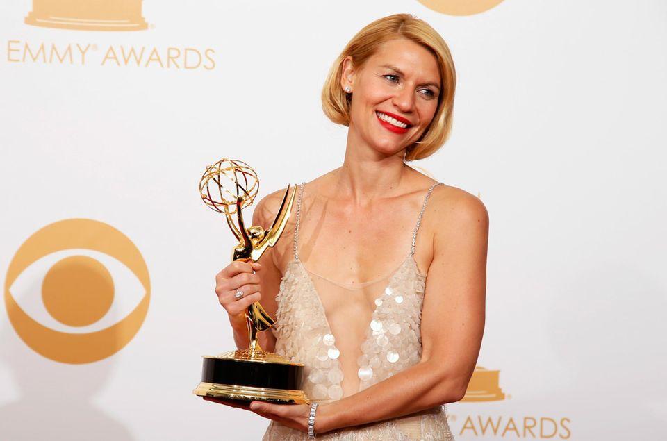 """Claire Danes wird für ihre Rolle in """"Homeland"""" bei der diesjährigen Emmy-Verleihung erneut als """"Beste Schauspielerin"""" ausgezeichnet."""