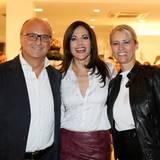 Ein gutes Team: Die comma-Geschäftsführer Armin Fichtel und Sonja Blömker mit ihrem Stargast Bettina Zimmermann