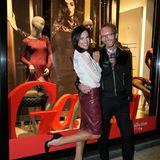 Schaufenstergucker: Bettina Zimmermann und GALA-Modechef Marcus Luft