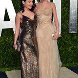 Die Kleine und die Große: Vanessa Hudgens ist 1,55 Meter, ihre gute Freundin Selena Gomez überragt sie um 10 Zentimeter.