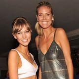 Um Karlie Kloss zu überragen, muss Heidi Klum aber auf ein hohes Podest steigen. Das Supermodel gehört mit seinen 1,85 Meter zu den größten ihrer Branche.