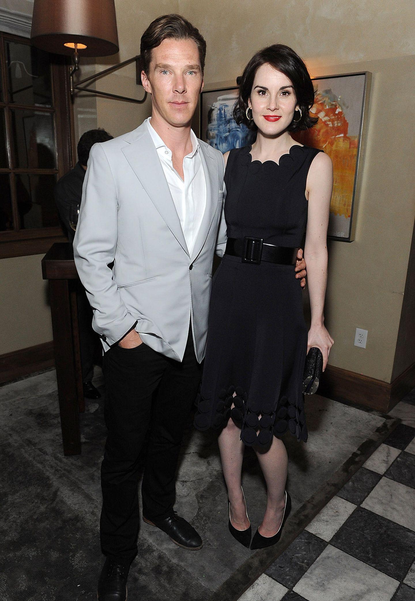 """Michelles BBC-Kollege und """"Sherlock""""-Star Benedict Cumberbatch ist mit seinen 1,83 Metern aber noch ganze 10 Zentimeter größer."""