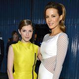 Kate Beckinsale ist mit 1,70 Meter mitnichten eine sehr große Frau, neben der nur 1,50 Meter kleinen Anna Kendrick wirkt es jedoch so.