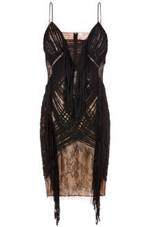 Unterschiedliche Haptik: Fransen-Kleid von Elisabetta Franchi, ca. 620 Euro