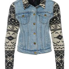 Denim-Love: Jacke aus Jeansstoff und Baumwolle im Achtzigerjahre-Stil, von Maison Scotch, über www.vangraaf.com, ca. 160 Euro