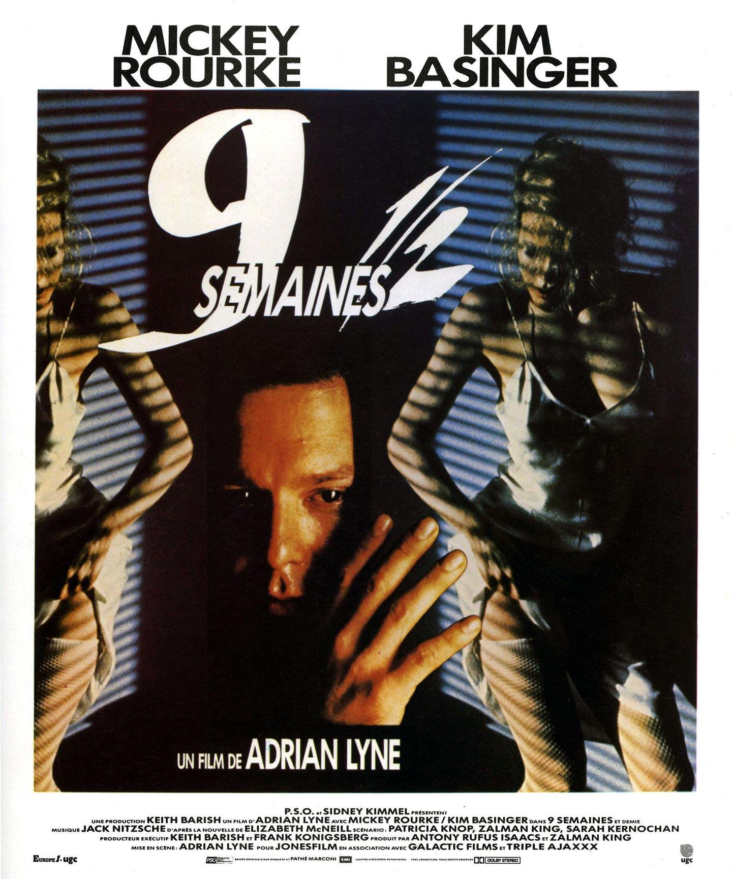 """Dieser Film hat Sexyness-Standards gesetzt: Kim Basinger und Mickey Rourke in """"9 1/2 Wochen"""" aus dem Jahr 1986."""