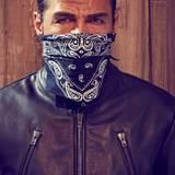 Erol Sander: Lederjacke von Maison Martin Margiela, gesehen bei Stylebop.com