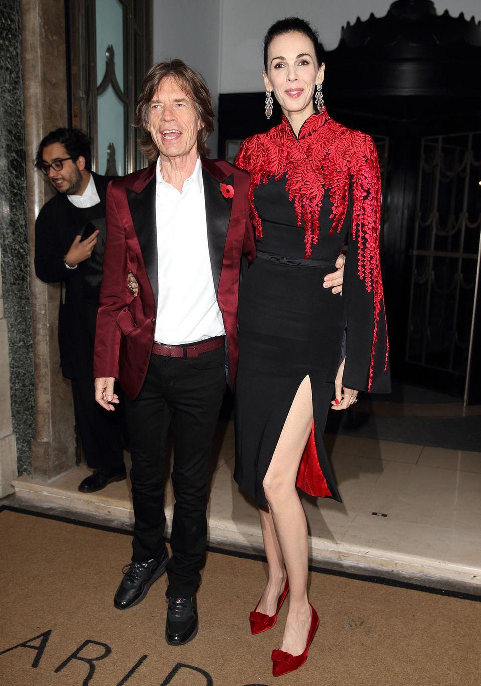 Mick Jagger und L'Wren Scott (Tastemaker of the Year)