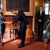Weiter geht's zum offiziellen Termin mit der Gouverneurin von New South Wales, Marie Bashir.
