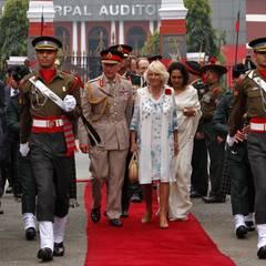 """Tag 2  Charles und Camilla besuchen die """"Indian Military Academy"""" in Dehradun."""