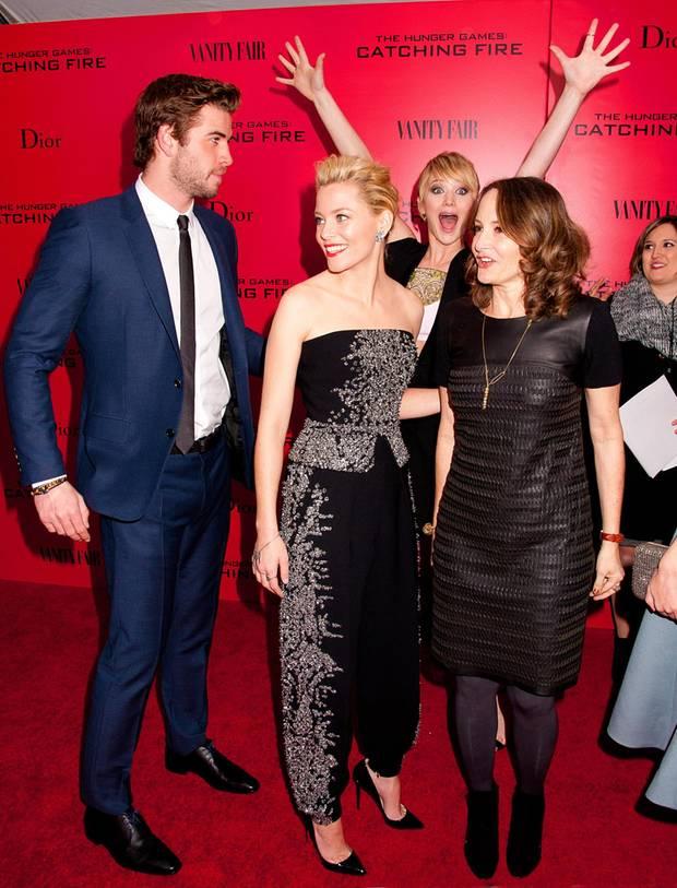 """Jennifer Lawrence freut sich riesig auf das Special Screening von """"The Hunger Games - Catching Fire"""" in New York."""