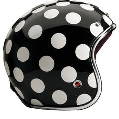 "Punktlandung: Helm ""Pavillon Grenelle"" im Polka-Style, von Les Ateliers Ruby, über www.ateliersruby.com, ca. 810 Euro"