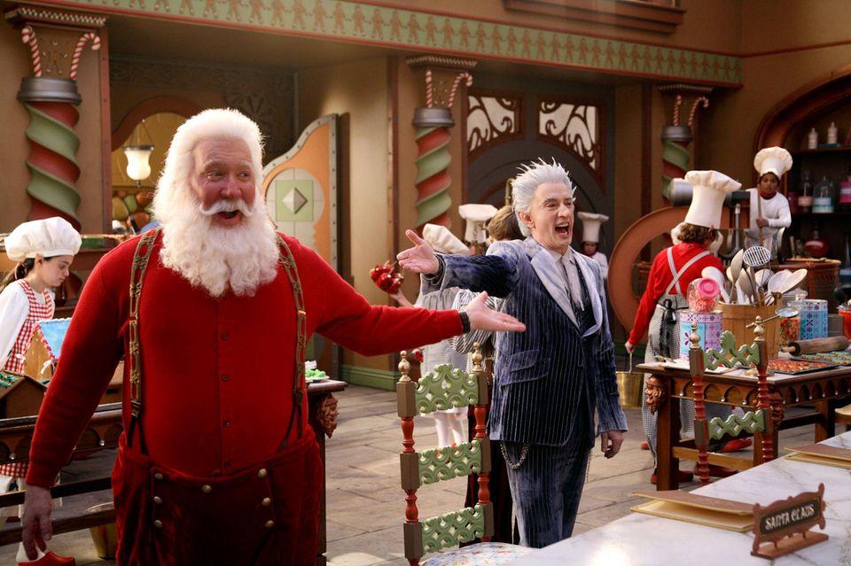 """""""Santa Clause""""  Für die Filmtrilogie wird Tim Allen von 1994 bis 2006 zum Mann mit dem weißen Rauschebart."""