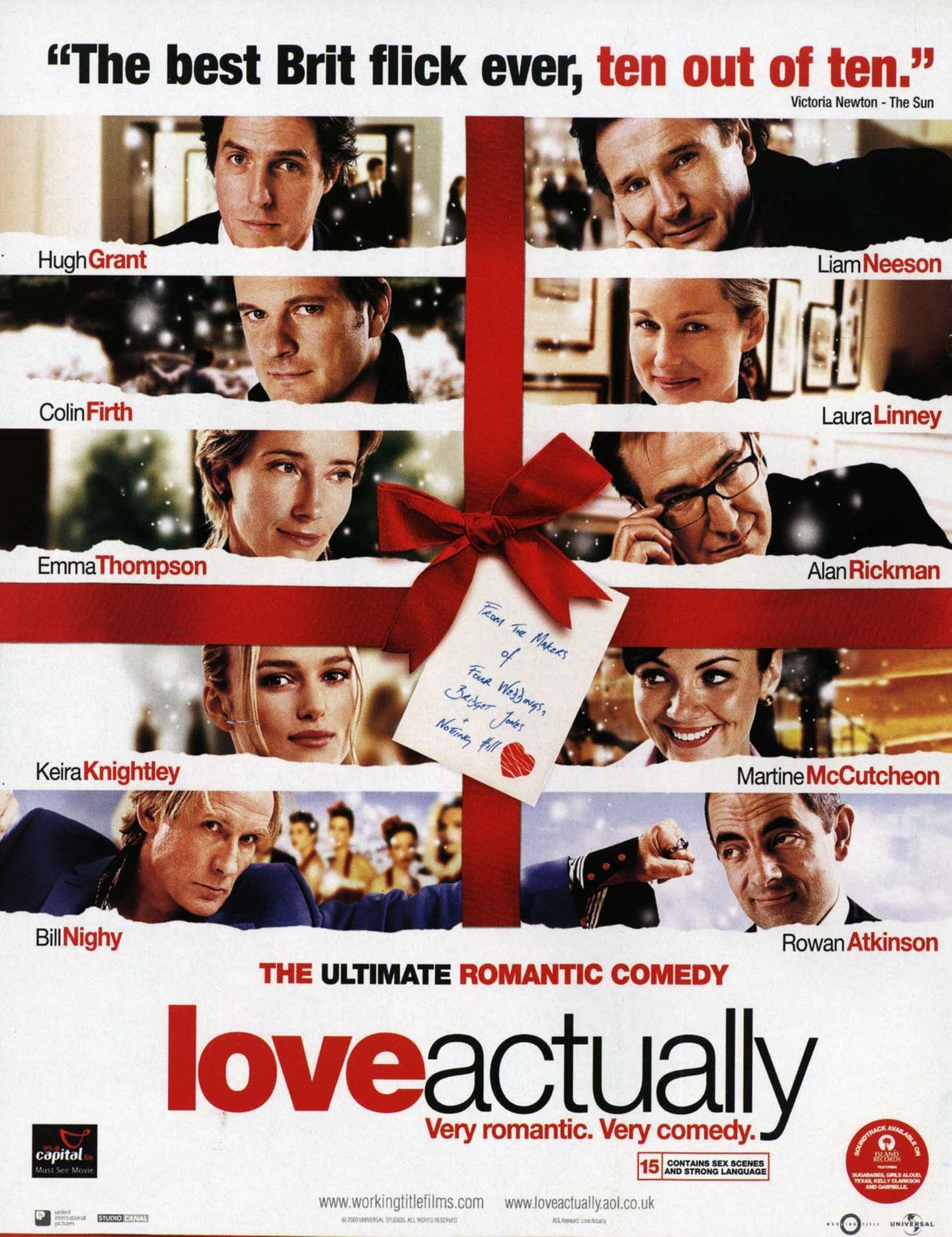 """2003 lief der Film """"Tatsächlich Liebe"""" in den Kinos an und hat heute Kultstatus. Wir zeigen, was aus den Stars von damals geworden ist."""