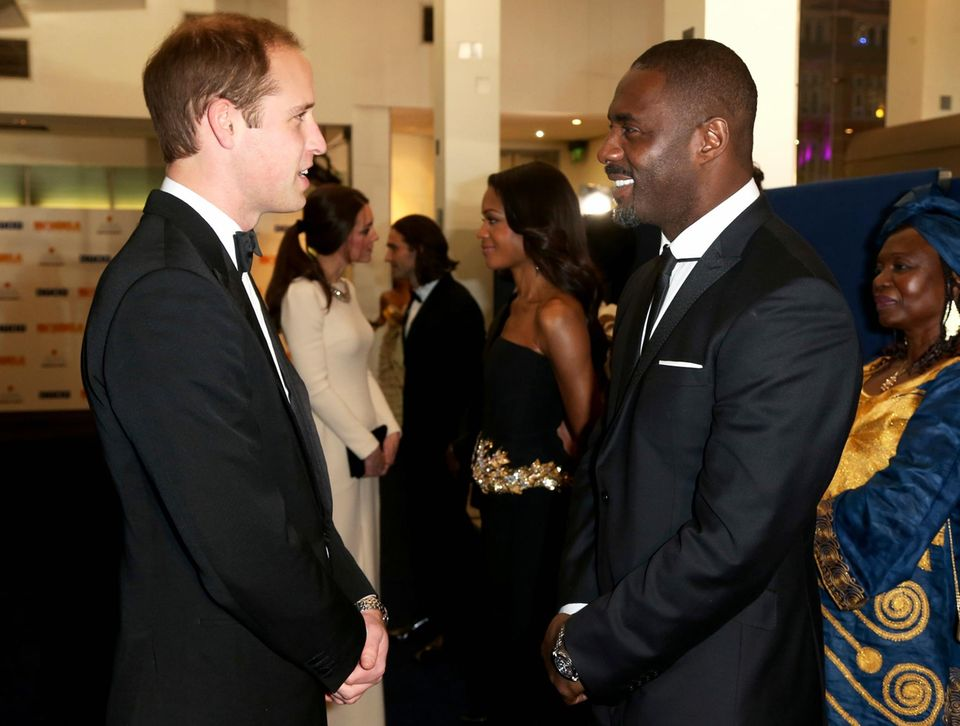 Prinz William und Idris Elba