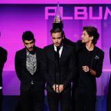 """Die Jungs von """"One Direction"""" siegen in den Kategorien """"Favorite Band Pop/Rock"""" und """"Favorite Album Pop/Rock""""."""