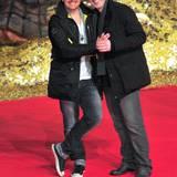 """Sänger Ross Antony schaut sich die Premiere von """"Der Hobbit"""" mit seinem Mann Paul Reeves an."""