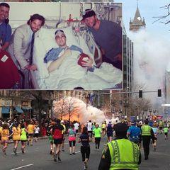 April 2013  Bei einem Bombenanschlag während des Boston Marathons am 15. April gibt es zahlreiche Opfer. Viele Stars nehmen Anteil und zeigen ihr Mitgefühl. Darunter auch Schauspieler Bradley Cooper, der Opfer des Terrorabnschlags im Krankenhaus besucht.
