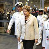 Auch Brasiliens Staatsoberhaupt Dilma Rousseff ist gekommen um Abschied zu nehmen.