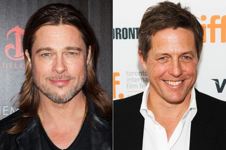 """Brad Pitt als Will Freeman in """"About a Boy""""? Kaum vorstellbar, man könnte meinen, die Rolle sei Hugh Grant auf den Leib geschneidert. Dennoch ist ursprünglich Pitt für den Part vorgesehen gewesen, der angeblich mit einem Augenzwinkern und der Begründung ablehnte, er sei zu attraktiv, um einen alleinerziehenden Single-Vater zu spielen."""