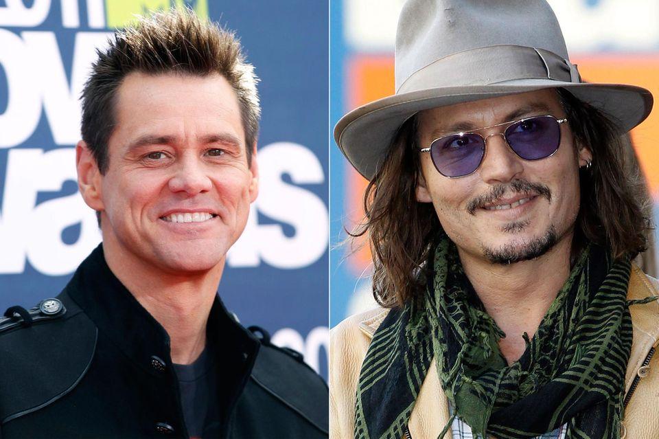 """Die Rolle des """"Jack Sparrow"""" ging beinahe an Jim Carrey, der aber wegen """"Bruce Almighty"""" absagen musste – so bekam Johnny Depp den Part in """"Fluch der Karibik""""."""
