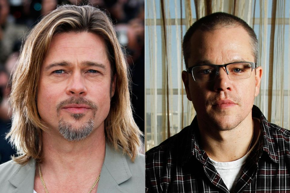 """In letzter Minute stieg Brad Pitt bei """"The Bourne Identity"""" aus und machte somit Platz für Matt Damon."""