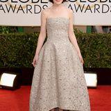 """""""Downton Abbey""""-Darstellerin Michelle Dockery erhielt für ihren klassischen Look und den tollen Schnitt ihres Kleides von Oscar de la Renta viel Lob."""