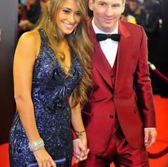 Lionel Messi mit seiner Freundin Antonella Roccuzzo