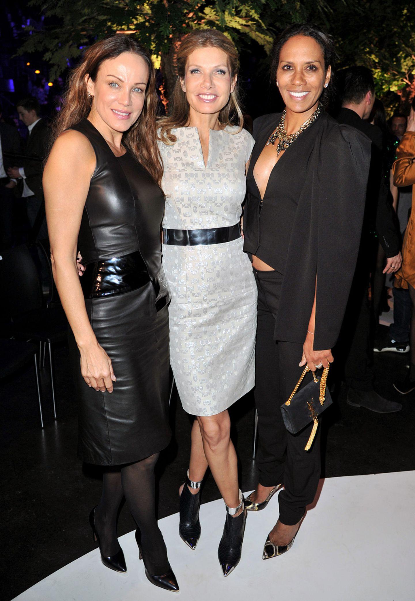 Party-Time auf der StyleNite: Sonja Kirchberger, Ursula Karven and Barbara Becker sind nur einige der Stars im Tempodrom.