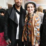 Patrice Bouédibéla und Mimi Müller-Westernhagen lassen sich beim Fashion Brunch gemeinsam ablichten.