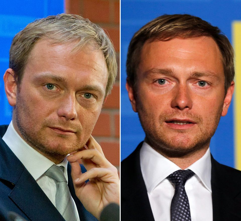 Nur gut gekämmt, oder doch ein wenig nachgeholfen? Der Vorsitzende der FDP, Christian Lindner, zeigt sich neuerdings mit dunklerem und scheinbar fülligerem Haar.