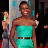 Den bezauberndsten Auftritt bei den BAFTAs in London legte Lupita Nyong'o im leuchtend grünen Traumkleid von Dior Haute Couture hin.
