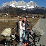 März 2014  Monica Ivancan und Jana-Ina Zarella genießen mit ihren Kindern das herrliche Wetter im Urlaub in Kitzbühel.