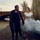 """März 2014  Für Kanye West und Kim Kardashian wird ein Traum war: Das Paar erscheint mit exklusiven Fotos in der """"Vogue""""."""