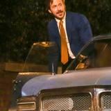 """31. Oktober 2014: Ryan Gosling steht neben Russell Crowe für den Film """"The Nice Guys"""" in Atlanta vor der Kamera."""