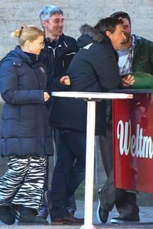 """20. März 2014: Annette Frier und Jan Sosniok drehen zusammen """"Danni Lowinski"""" in Köln."""