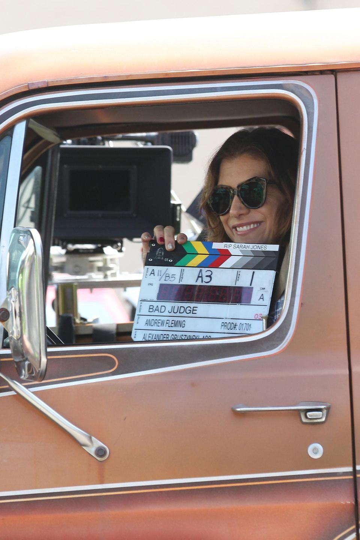 """21. März 2014: Klappe, die erste: Kate Walsh steht in Los Feliz für den Film """"Bad Judge"""" vor der Kamera."""