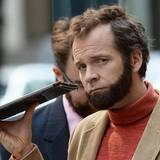"22. Juni 2014: Peter Sarsgaard dreht mit Bart den Film ""Experimenter"" in Manhattan."
