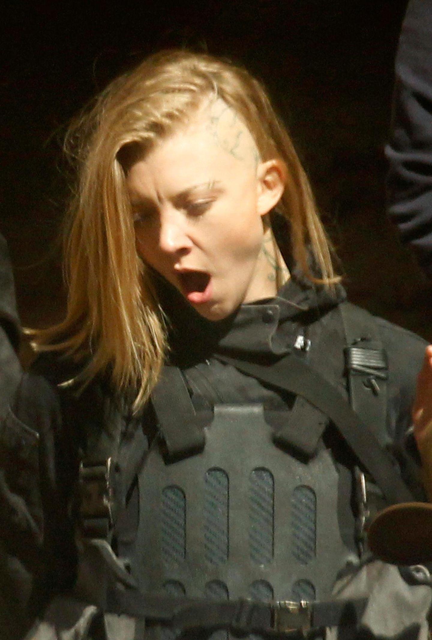 """13. Mai 2014: """"Game of Thrones""""-Star Natalie Dormer hat auch im Film """"The Hunger Games: Mockingjay"""" eine tragende Rolle und steht dafür in London vor der Kamera."""