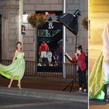 5. Juni 2014: Elsa Pataky modelt auf den Straßen des nächstlichen Madrids für ein Fotoshooting.