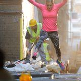 """9. September 2014: Für einen """"Nike""""-Werbespot zeigt Ellie Goulding vollen Körpereinsatz."""